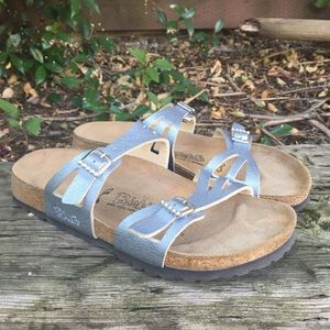 Birkenstock Briki's 2 Strap Blue Bling Sandals 7L